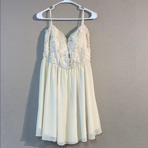 Cream Deb Size 2X Strapless Dress With Tags